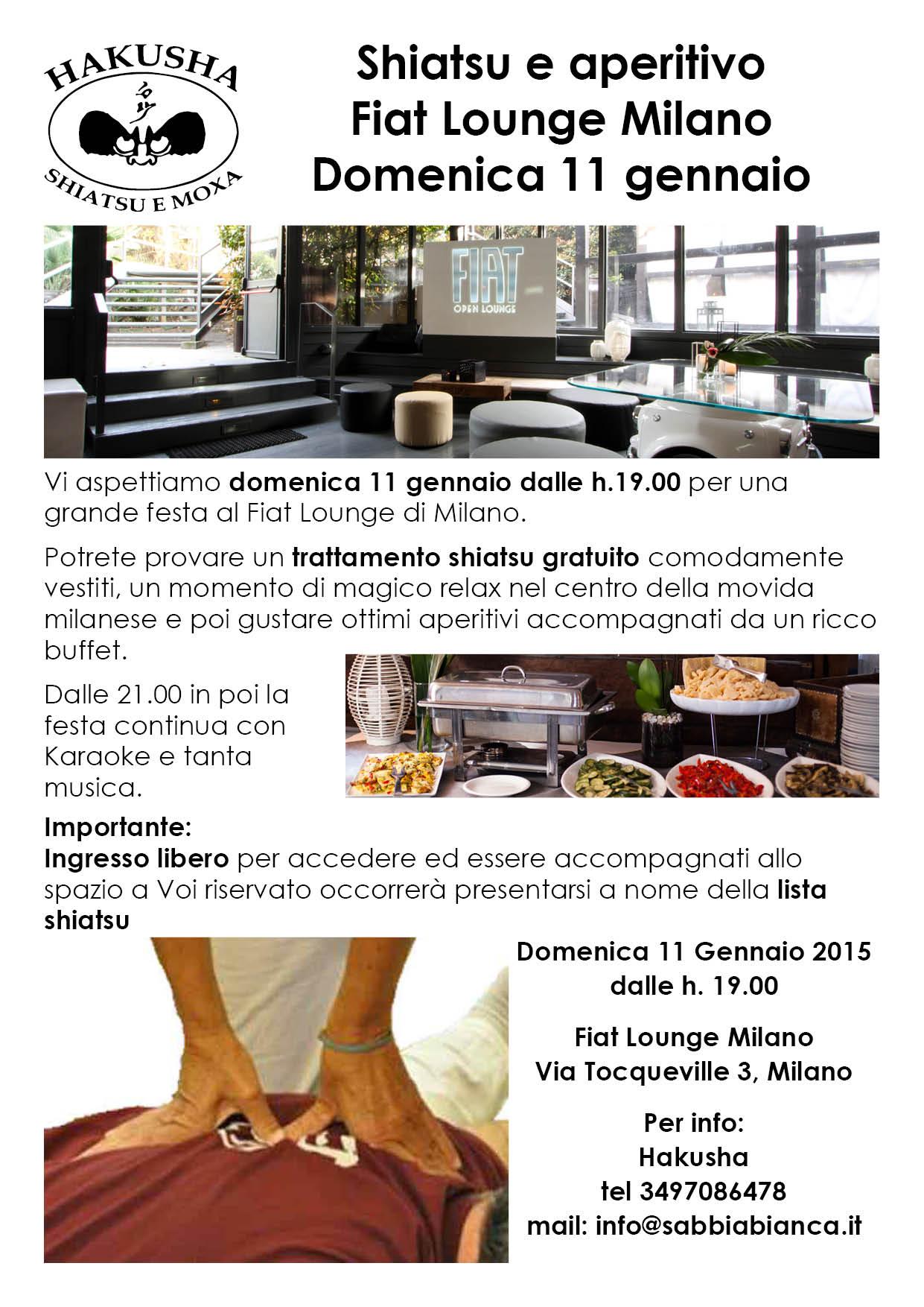 Shiatsu e Aperitivo 11 gennaio 2015 Milano