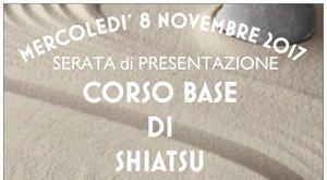 Mercoledì 8 novembre h. 21.00 - Novara SERATA di PRESENTAZIONE CORSO BASE DI SHIATSU